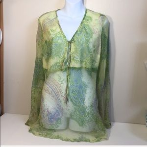 Phool Swim Cover up  long Sleeve tunic size 12